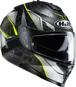 HJC kask IS-17 DAUGAVA black/fluo yellow