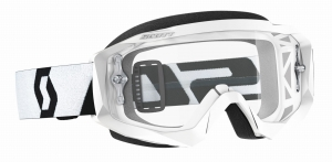 SCOTT gogle HUSTLE X MX white/black/clear works