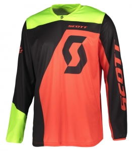 SCOTT bluza JERSEY 350 DIRT black/red