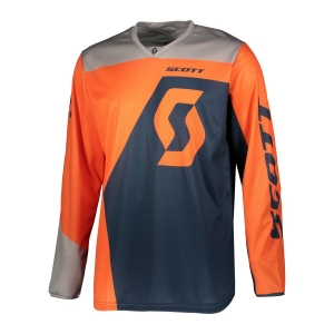 SCOTT bluza JERSEY 350 DIRT orange/blue