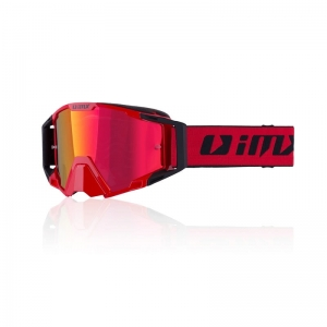 IMX gogle SAND red black - szyba red iridium+clear