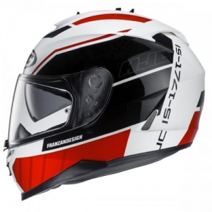 HJC kask IS-17 TRIDENS black/white/red