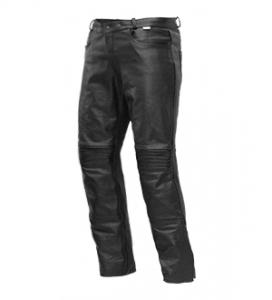 4.BIKER spodnie JEANS LEATHER LONG
