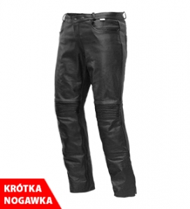4.BIKER spodnie JEANS LEATHER SHORT