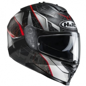 HJC kask IS-17 DAUGAVA black/red